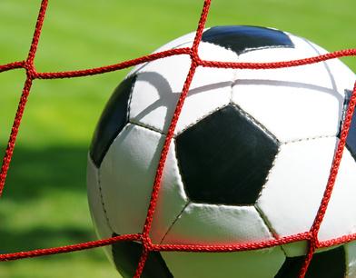 Fußball im Tor